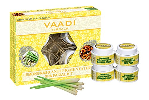 Vaadi Herbals Facial Kit - Lemongrass & Cedarwood Spa Facial Kit All Natural Suitable For All Skin Types And Both For Men And Women - 70 Grams -