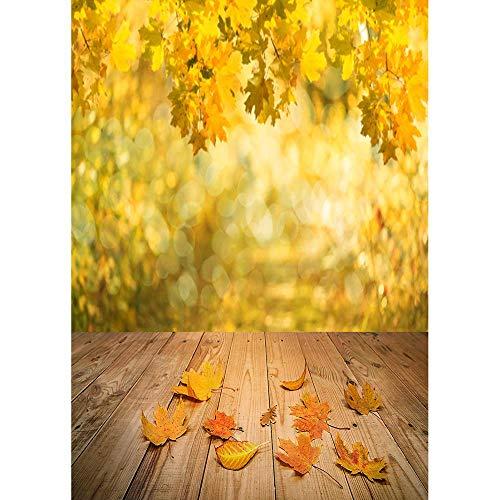 Fondo de fotografía de Bosque de otoño Fondo de Foto de Puente de Madera Tela de Vinilo 3D Impreso por Ordenador para Estudio fotográfico A21 2,1x1,5 m