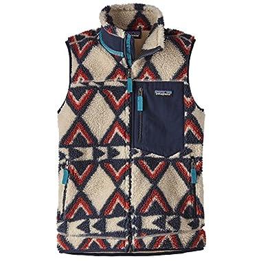 Patagonia Women's Classic Retro-X Fleece Vest (M, Brass Hawk/Smolder Blue)