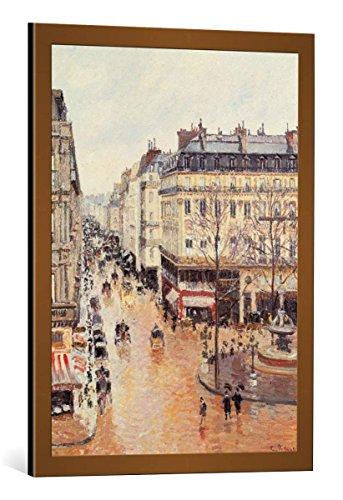 Kunst für Alle Cuadro con Marco: Camille Pissarro Rue Saint