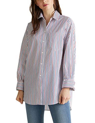 ESPRIT Oversized Stretch-Bluse mit Multicolor-Streifen