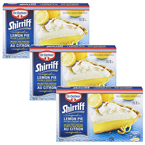Dr. Oetker Shirriff Lemon Pie Filling & Desert Mix 212g/7.5oz, 3-Pack {Imported from Canada}