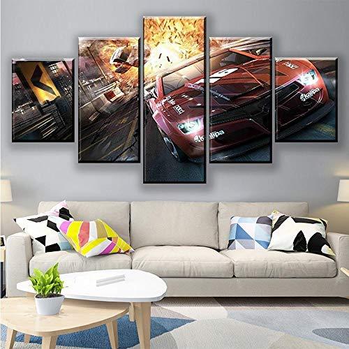 Yoplll 5 Piezas Lienzo Grandes Xxl Murales Pared Hogar Pasillo Decor Arte Pared Abstracto Hd Impresión Foto 150X 80 Cm Fotos De Juegos De Películas