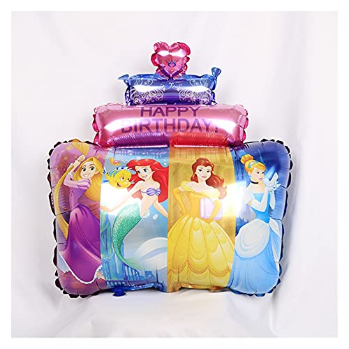 PINGPUNG Globo 1set Princess Cake Aluminio Foil Balloon Bautismo Decoración de cumpleaños Partido Número de 32 Pulgadas Número de Globo Día de los niños Regalo (Color : 1pcs)