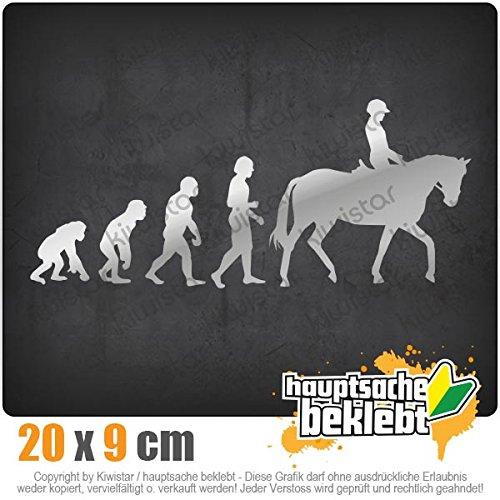 Kiwistar Evolution Pferdesport 20 x 8,5 cm IN 15 Farben - Neon + Chrom! Sticker Aufkleber