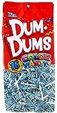 Dum Dums Color Party Lollipops, Light Blue, Blu Raspberry Flavor, 12.8 Ounce, 75 Count Bag