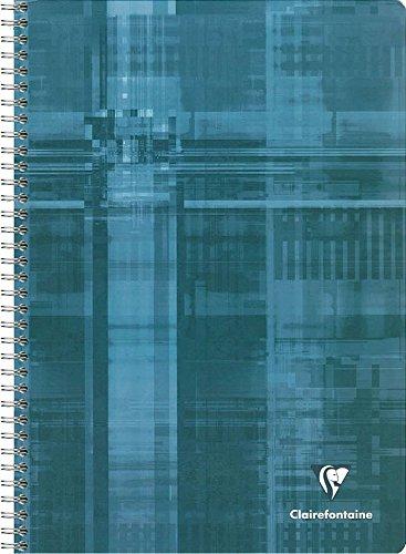 Clairefontaine 68162C - Un cahier à spirale 180 pages 21x29,7 cm 90g petits carreaux, couverture carte pelliculée couleur aléatoire