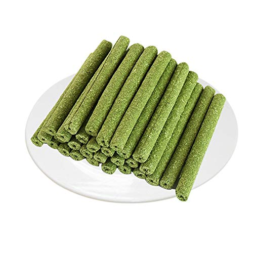 HOMU 30pcs Timothy Hay Sticks for Guinea Pig Chinchillas Pet Snacks Chew Treats for Rabbit Hamsters Squirrel and Other Small Animals