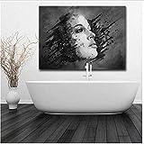 AS65ST12 Arte Keldog Pósteres Láminas de mujer abstracta de la cara acuarela pared Pósteres Decoración impresión de HD pinturas de la lona for el arte pared Cuadros-50x75cm No Frame Posters Prints