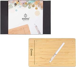 ViewSonic製Woodpad 10 ペンタブレット9x6インチ4096レベル筆圧ソフトとハードペン先付き