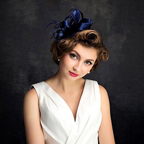Veil Hoed Bruid Handfeather Bruiloft Studio Om Foto's Van Een Honderd Netting Jurk Hoed 15 Cm Blauw