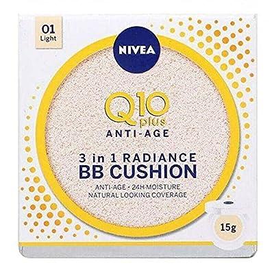 Nivea Q10 Anti-Ageing Bb Cream Cushion Light, 24H Anti-Wrinkle Moisture, 15G by Nivea