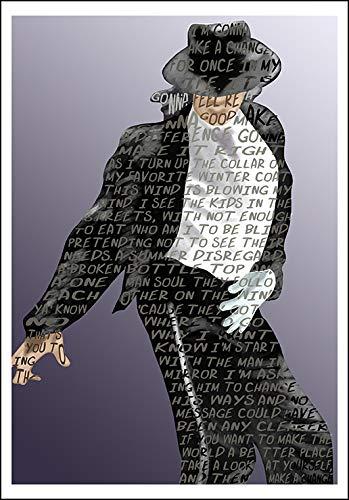 Michael Jackson wholesale lyrics quote mini print Save money 5x7