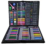 Juego de pintura para niños de acuarela, lápices de colores, kit surtido de barras de cera de colores, suministros de arte, regalo para principiantes (150 unidades)