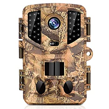 KINGCO Trail Camera 16MP Full HD Night Vision 1080P Hunting Camera with 3 Infrared Sensors Time Lapse and 0.2s Trigger Speed Wildlife Camera Waterproof IP66