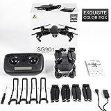 Believe 2020 Nouveau E68 Drone HD Caméra Grand Angle 4K WiFi 1080P FPV Drones vidéo en Direct Enregistrement Quadcopter Hauteur pour Maintenir la Vitesse de vol à Trois Niveaux, lumière LED,Carton