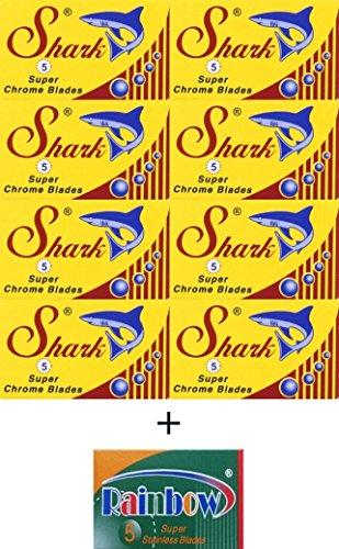 40 Lamette Shark - Super Stainless e 5 lamette Rainbow Super Steel