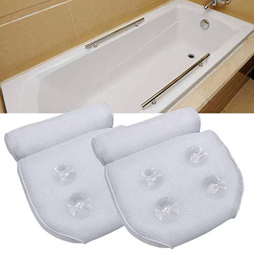 lailongp Cojín de baño antideslizante de malla 3D, suave, transpirable, SPA, reposacabezas, para bañera