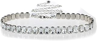 Women's Metal Chain Flower Pearl Belts Gold Silver