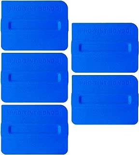 SYTASOO 5PCS Auto Vinyl Wraps Tool Professional 4 Inch Magnet Squeegee Film Squeegee Vinyl Squeegee Plastic Scraper (Blue)