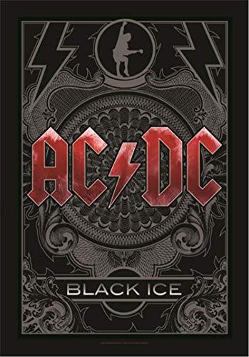 Heart Rock Licensed Bandera AC/DC–Black Ice, Tela, Multicolor, 1