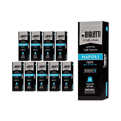 Bialetti Compatibili Nespresso Napoli, 10 Confezioni da 10 capsule (100 Capsule)