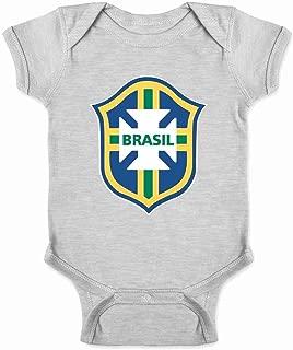 Brazil Futbol Soccer National Team Football Crest Infant Baby Boy Girl Bodysuit