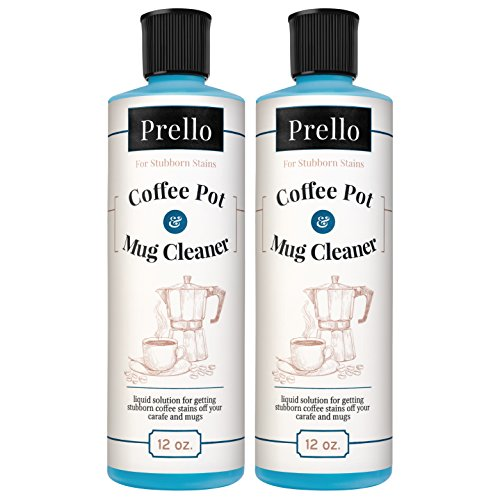 Prello Coffee Pot & Mug Cleaner | Coffee Maker Cleaner and Stain Remover for Carafes, Cups, Mugs (Pack of 2)