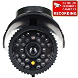 VideoSecu Dummy Fake Security Camera Imitation IR Style CCTV Surveillance Flashing Light with Free Security Warning Decal CPX