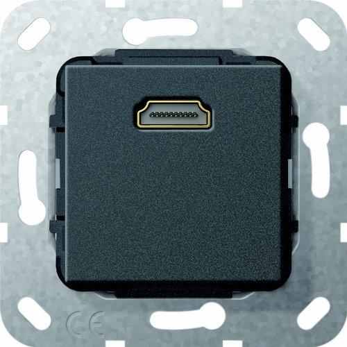 Gira 566910 HDMI Gender Changer gebruik zwart mat