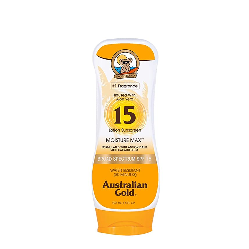 鷲だますポンプAustralian Gold Lotion Sunscreen Broad Spectrum SPF 15 237ml/8oz並行輸入品