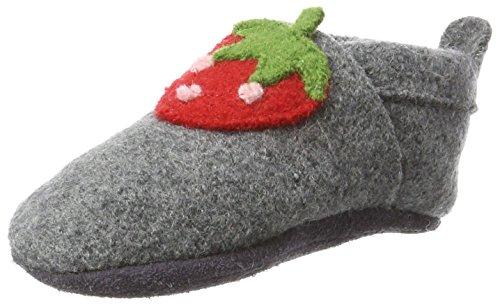 Pololo Unisex-Kinder Wolli Erdbeere Niedrige Hausschuhe, Grau (Graphit Berry 826), 28/29 EU