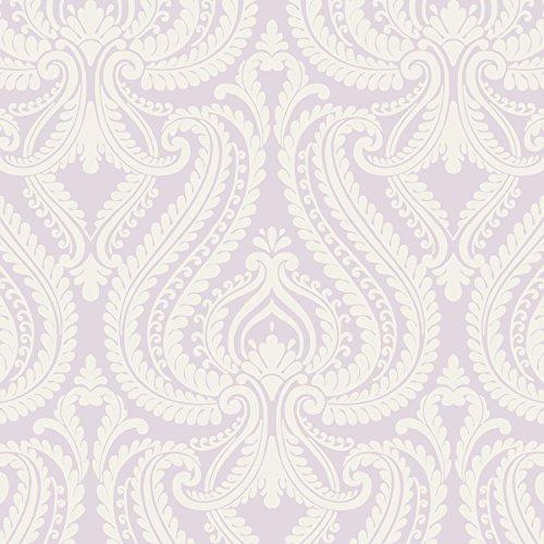 Beacon House 2535-20624 Imperial Modern Damask Wallpaper, Lavender
