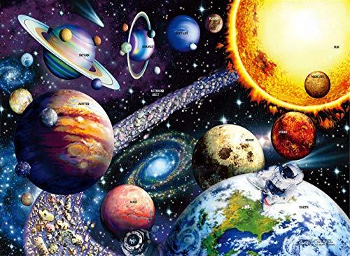 HUADADA Puzzle 1000 Teile, Puzzle für Erwachsene,Sonnensystem Planeten Puzzle.farbenfrohes Legespiel ,Geschicklichkeitsspiel für die ganze Familie, Erwachsenenpuzzle ab 12 Jahren.