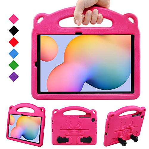 BelleStyle Kids Case for Galaxy Tab S6 Lite 10.4 2020, Shockproof Protective Case Kids Friendly Handle Stand Panda Cover for Samsung Galaxy Tab S6 Lite 10.4 Inch SM-P610/P615 2020 Released, Rose
