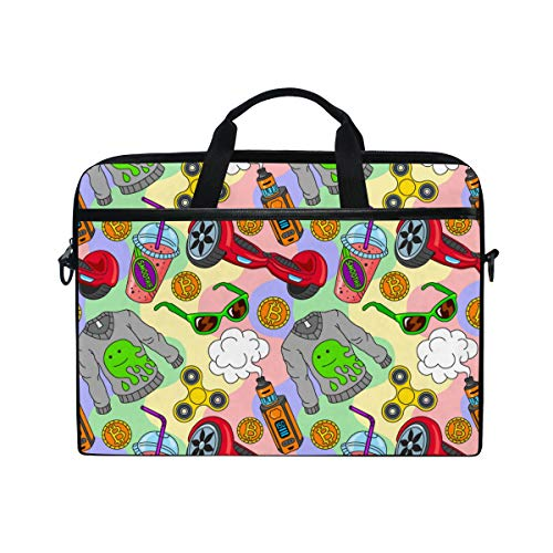HUAYEXI 15-15.4 Inch Laptop Bag,Laptop Hoverboard Fidget Spinner Vape Ecigarettes Smoothie,Multifunctional Fabric Laptop Case,Portable Sleeve Briefcase
