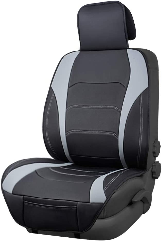 Black with Red Diamond Pattern Basics Deluxe Sideless Universal Fit Leatherette Seat Cover