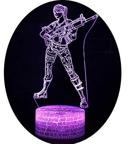 3D Illusion Nuit Lumière Win-Y LED Bureau Table Lampe 7 Couleur Tactile Lampe Maison Chambre Bureau Décor pour Enfants D'anniversaire De Noël Cadeau (Kurando Mitsutake 2)