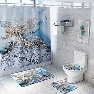 Automne Rideau de douche Forêt Cerf Bain Doux Tapis toilettes référence Tapis