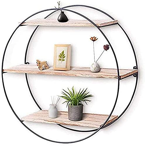 Estante de pared para plantas, estantes flotantes de madera rústica, estante decorativo de pared para dormitorio, sala de estar, baño, cocina, oficina y más