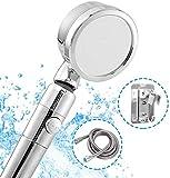 FANPING La Cabeza de Ducha con Manguera de Alta presión, Limpieza de Ahorro de Agua extraíble Modo Económico Operación fácil for la última Experiencia de Ducha (Color : Silver)