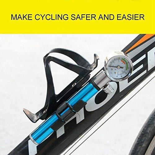 koiry Hochdruck Analog Mountain Bike MTB Luftfederung Dämpferpumpe Tragbarer Mini Luftpumpe – Schwarz, 1 - 4