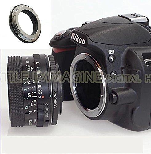 Anillo adaptador para lente Tamron Adaptall 2 sobre cuerpo de Nikon AF, todos los modelos