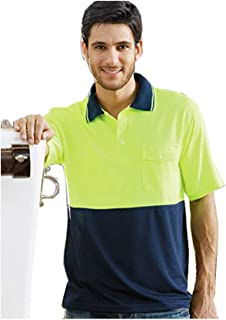 Hi-Vis Short Sleeve Safety Polo High - Vis Two Tone Short Sleeve Safety Polo Day Use Only 175Gsm 100% Polyester Micromesh Moisture Management Fabric With Sun Protection And Anti Bacterial Treatment