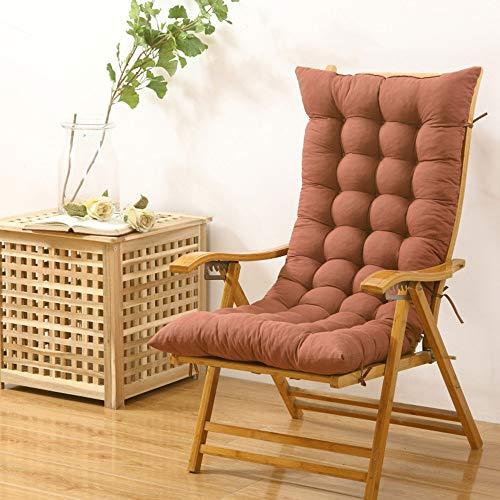 LJ Home Juego De Cojines para Mecedoras Almohadilla Antideslizante Algodón Soft Comfort,48 * 120cm—Coffee