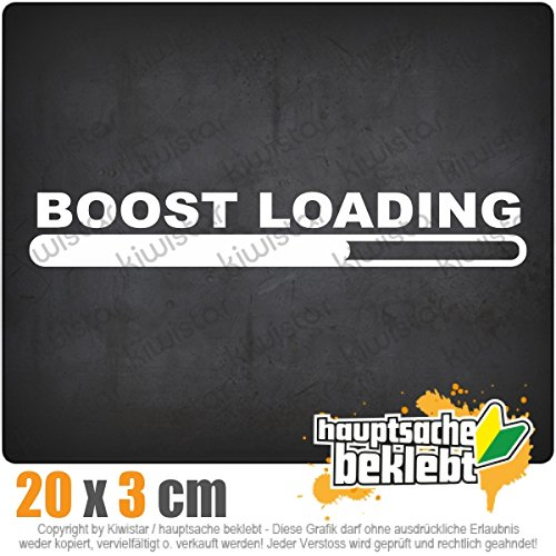 Boost Loading 20 x 3 cm In 15 Farben - Neon + Chrom! JDM Sticker Aufkleber