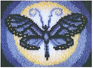 Caron WonderArt 15x20 Latch Hook Kit: Butterfly Moon
