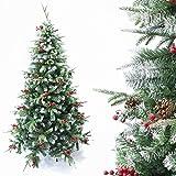 Arcoiris Árbol de Navidad Artificial Acebo, Natural Verde,
