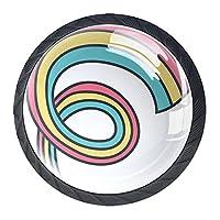 引き出しノブプルハンドル4個 クリスタルガラスのキャビネットの引き出しは食器棚のノブを引っ張る,カラーサイクル