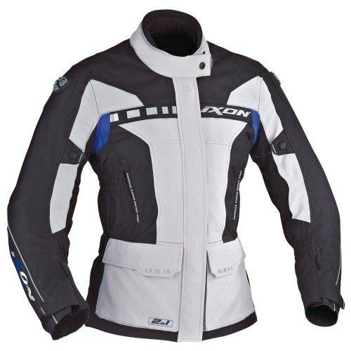 Ixon Corsica Lady - Chaqueta de moto (talla M), color gris y negro